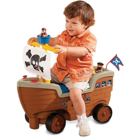 Little Tikes Play N Scoot Pirate Ship Ride On Toy Play Set