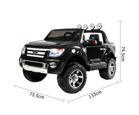 Ford Ranger Pickup Truck Black 12v Kids Ride-On Car + Remote - Kids Car Sales