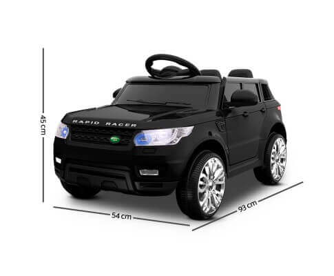 Range Rover Sport Inspired Black 12v Ride-On Kids Car Dimensions