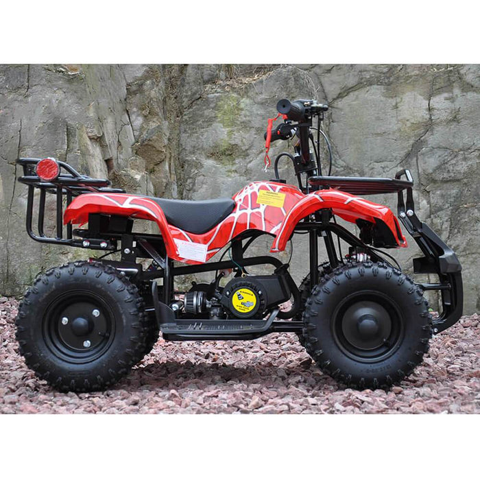 Motoworks Motoworks 49cc Petrol Powered 2-Stroke Farm Kids Quad Bike  - Red MOT-49ATV-FA-RED
