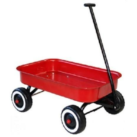 Large Kids Metal Pull Along Wagon