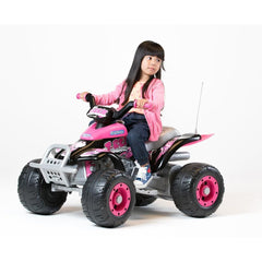 Peg Perego Corral T-Rex Pink 12v Ride-On Kids Quad Bike