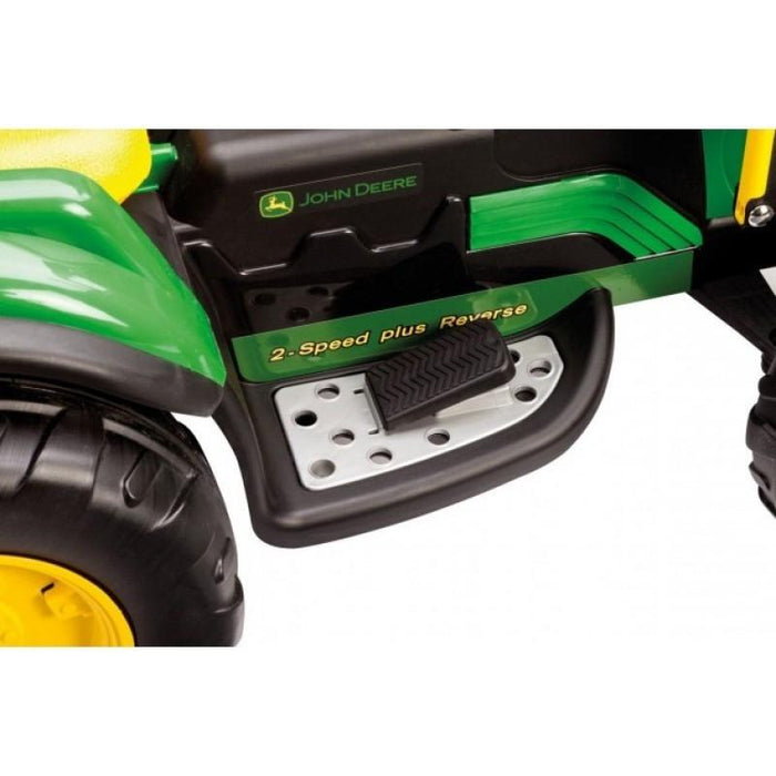 John Deere Ground Loader 12v Kids Ride On Tractor Digger With Scoop - Kids Car Sales