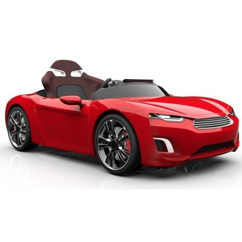 Henes Broon Red F830 12v Kids Ride On Supercar With Tablet PC