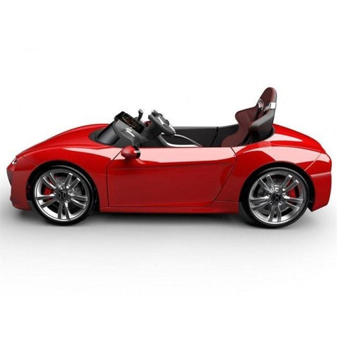 Henes Broon Red F830 12v Kids Ride On Supercar With Tablet PC - Kids Car Sales