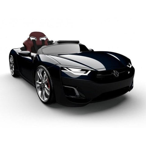 Henes Broon Black F830 12v Kids Ride On Supercar With Tablet PC - Kids Car Sales