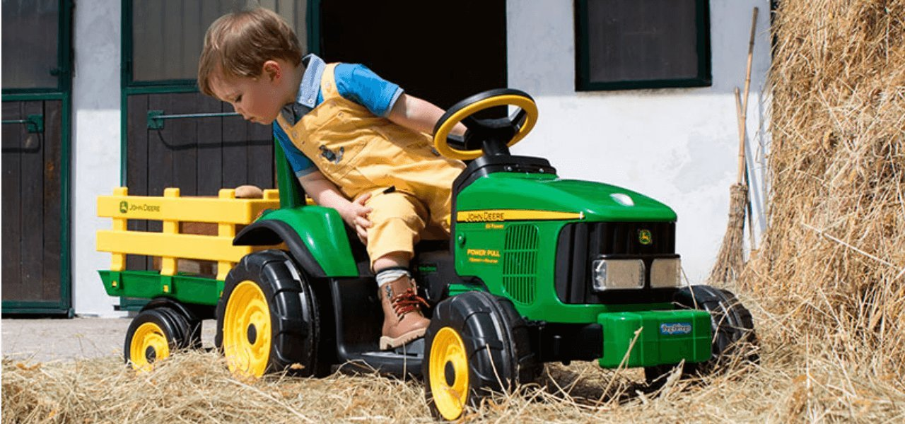 John Deere kids ride on cars