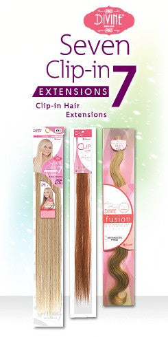 DIVINE 100% REMI HUMAN HAIR 7PC CLIP IN EXTENSIONS