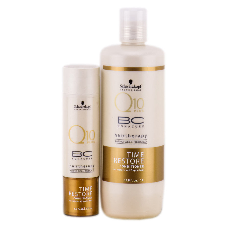 SCHWARZKOPF BC BONACURE TIME RESTORE Q10 CONDITIONER -33.8oz