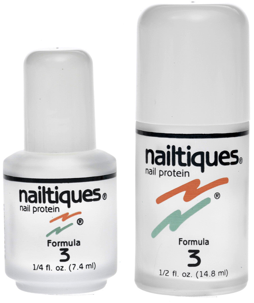 NAILTIQUES NAIL PROTEIN FORMULA 3 - CARE FOR NATURALLY HARD, DRY NAILS - 0.25 OZ