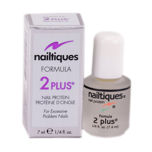 NAILTIQUES NAIL PROTEIN FORMULA 2 PLUS - TREATMENT FOR EXCESSIVE PROBLEM NAILS - 0.25 OZ. - PLUS
