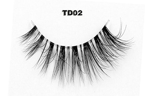 Invisible Transparent Band 3D Mink Eyelash TD02