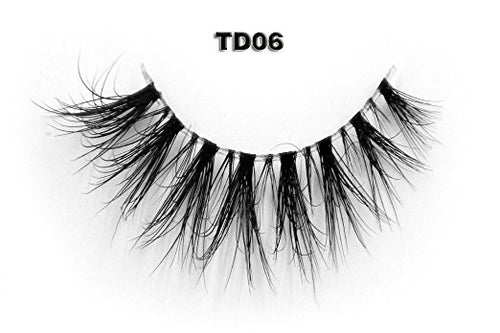 Invisible Transparent Band 3D Mink Eyelash TD06