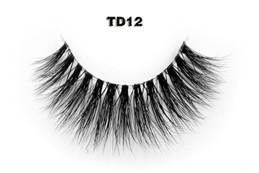 Invisible Transparent Band 3D Mink Eyelash TD12
