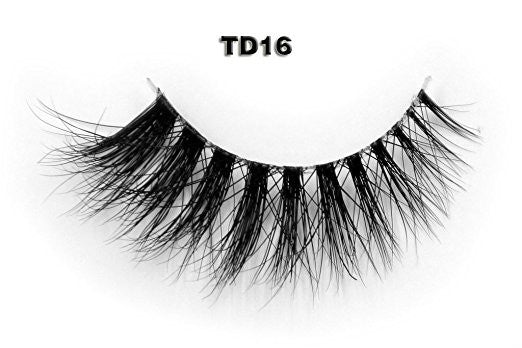 Invisible Transparent Band 3D Mink Eyelash TD 16