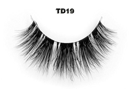 Invisible Transparent Band 3D Mink Eyelash TD19