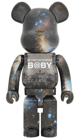 Be@rbrick My First Bearbrick Baby Space Version 1000% Black