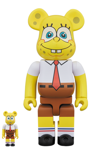 MEDICOM TOY BE@RBRICK SpongeBob Squarepants 100% & 400% Bearbrick