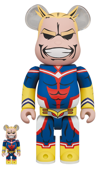 MEDICOM TOY BE@RBRICK My Hero Academia All Might 100% & 400% Bearbrick【Pre-Order】