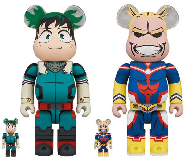 MEDICOM TOY BE@RBRICK My Hero Academia Midoriya Izuku & All Might Bundle 100% & 400% Bearbrick【Pre-Order】