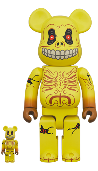 MEDICOM TOY BE@RBRICK SKULL FACE 100% & 400% Bearbrick