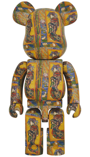 MEDICOM TOY BE@RBRICK Van Gogh Museum Courtesan (after Eisen) 1000% Bearbrick【Pre-Order】