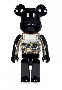 MEDICOM BE@RBRICK 2010 My First Baby Black & Silver version 1000% Bearbrick【Pre Owned Creased box 】