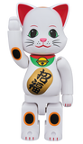 MEDICOM TOY BE@RBRICK NY@BRICK Lucky Cat White Blessing 400% Bearbrick【Coming Soon】