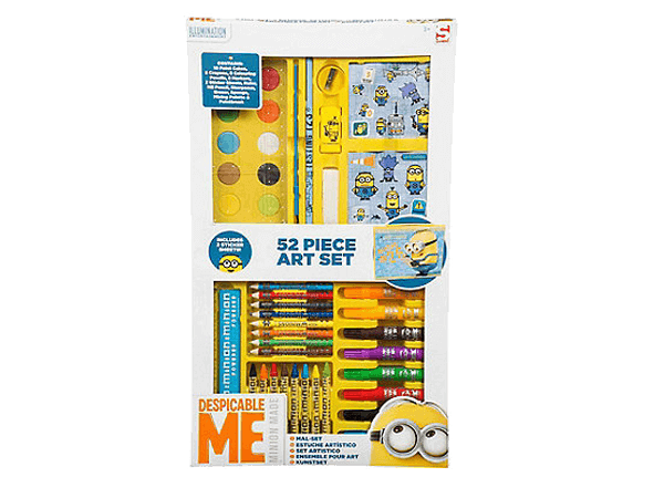 Despicable Me 52 piece 'Minions' art case  Big Big World