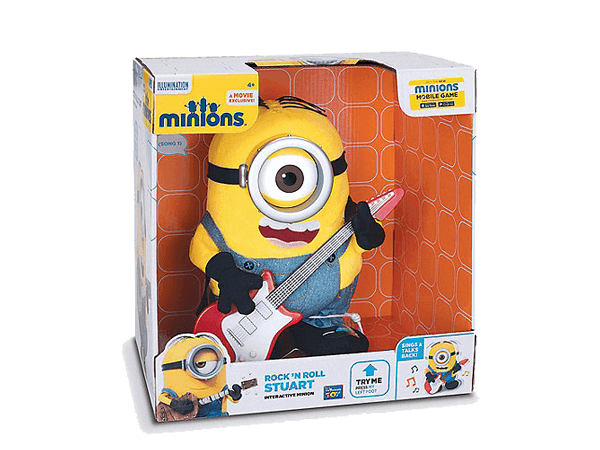 Despicable Me Minions Rock 'n Roll Stuart Deluxe Action Figure  Big Big World