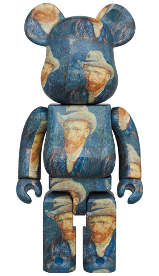 MEDICOM BE@RBRICK「Van Gogh Museum」Self-Portrait with Grey Felt Hat 1000% Bearbrick【Pre-Order】