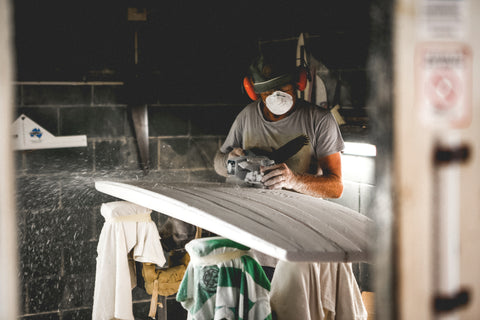 Paul Hutchinson hand shaped Vouch Surfboard Byron Bay