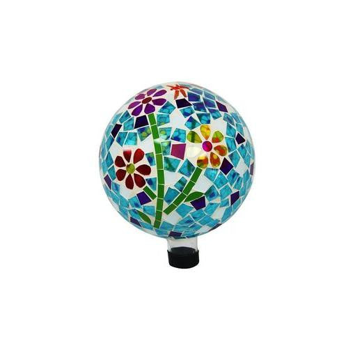 10 Inch Gazing Globe With Flowers