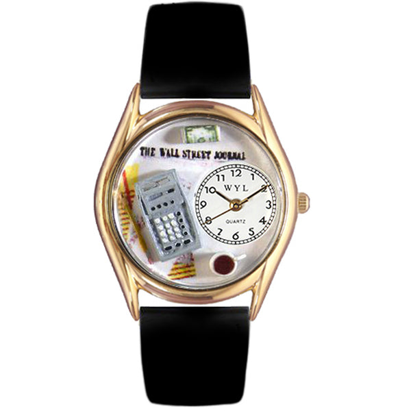 Accountant Watch Small Gold Style