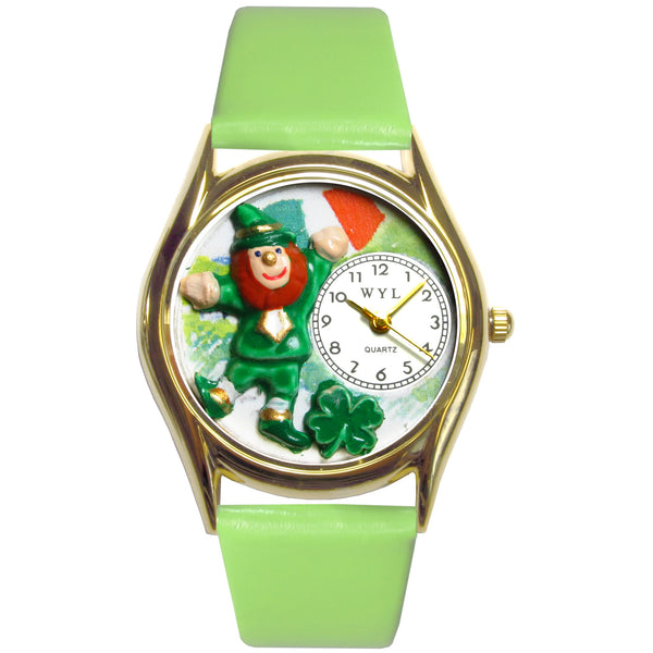 St. Patrick's Day Watch (Irish Flag) Small Gold Style