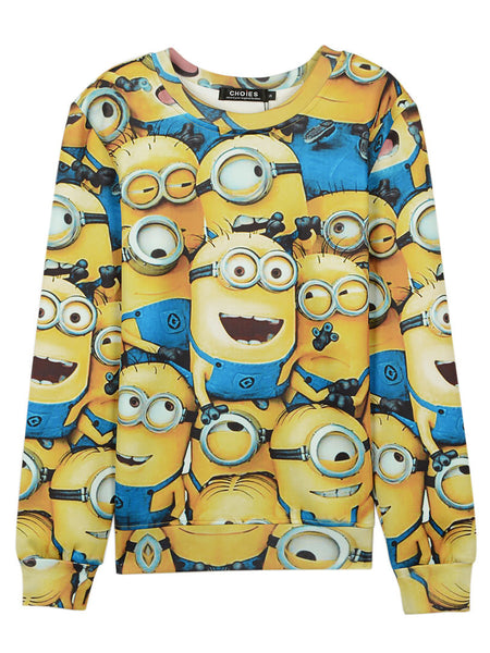 3D Unisex Multicolor Cartoon Print Sweatshirt