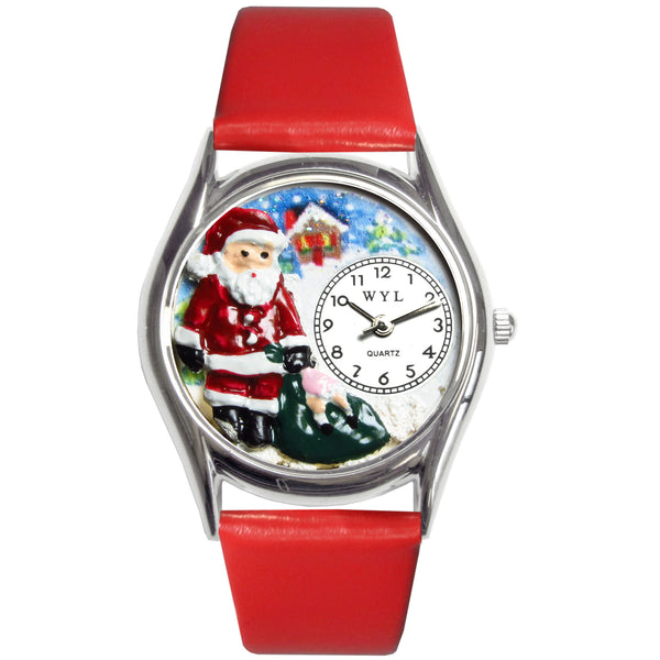 Christmas Santa Claus Watch Small Silver Style