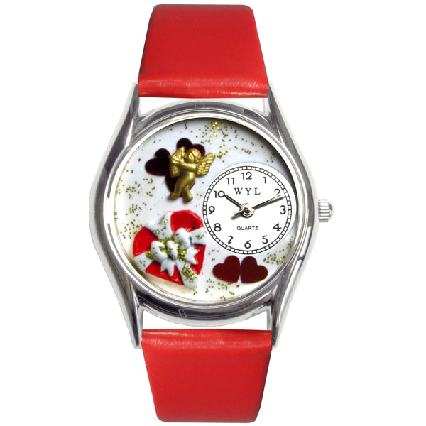 Valentine's Day Watch (Red) Small Silver Style
