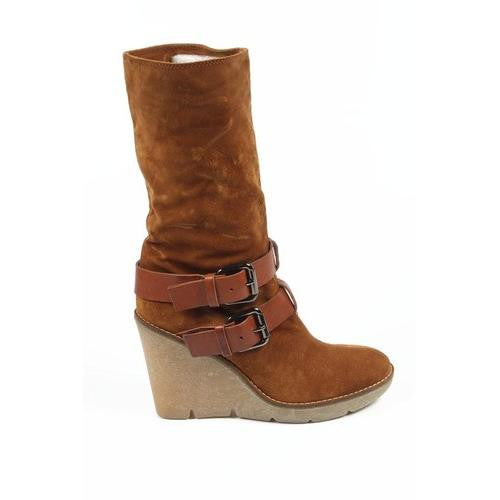 Sebastian Milano ladies short boot S3946 VELOUR LUX (Sonia) 401 MIELE