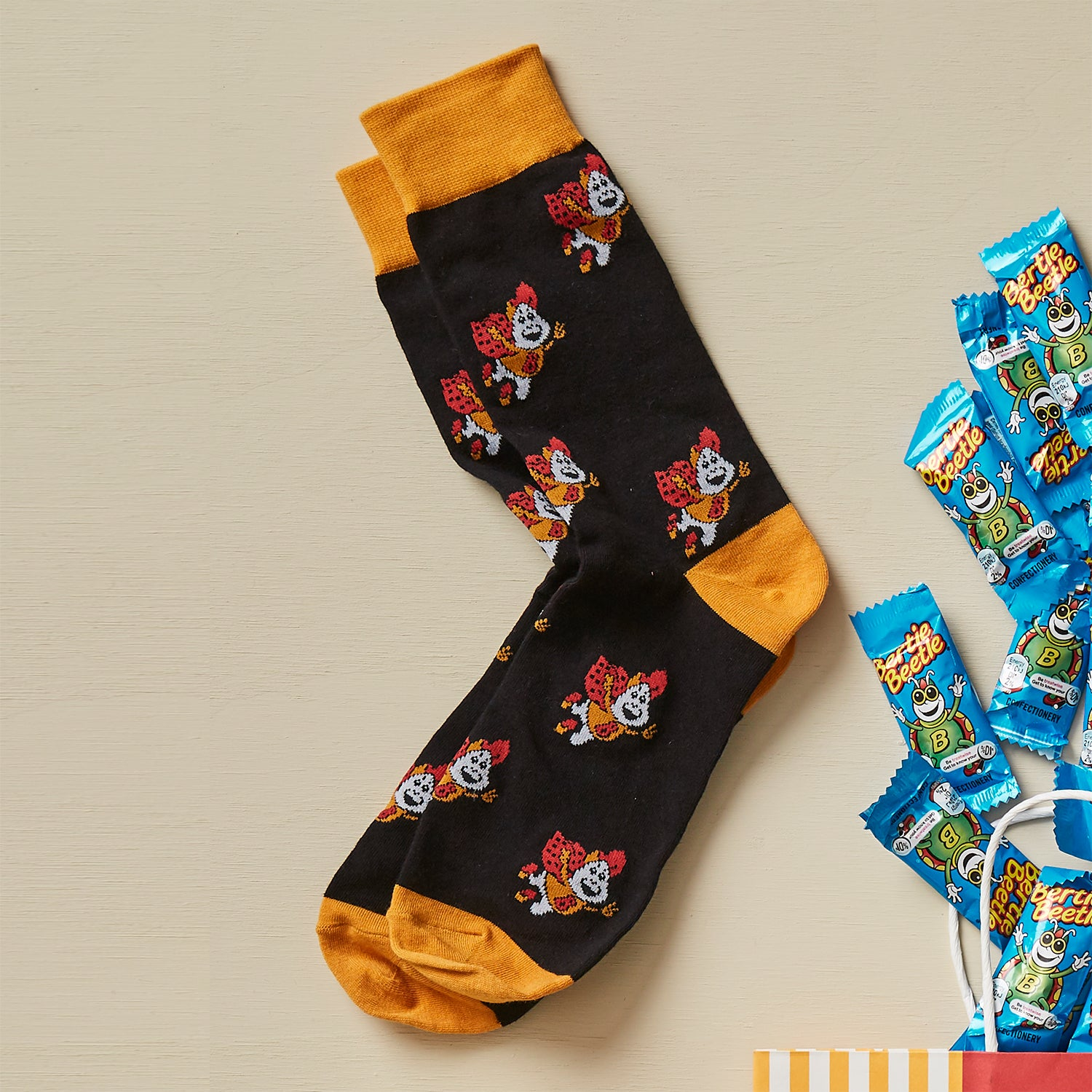 Bertie Beetle Socks