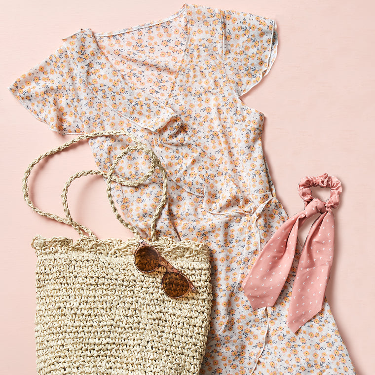 Indie Showbag with Floral Wrap Dress