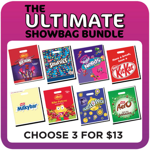 Ultimate Showbag Bundle - 3 Jnr Showbags for $13
