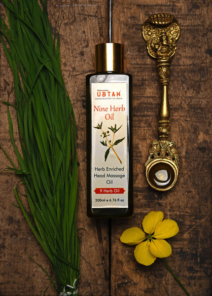 Nine Herb Oil - Herb Enriched Head Massage Oil