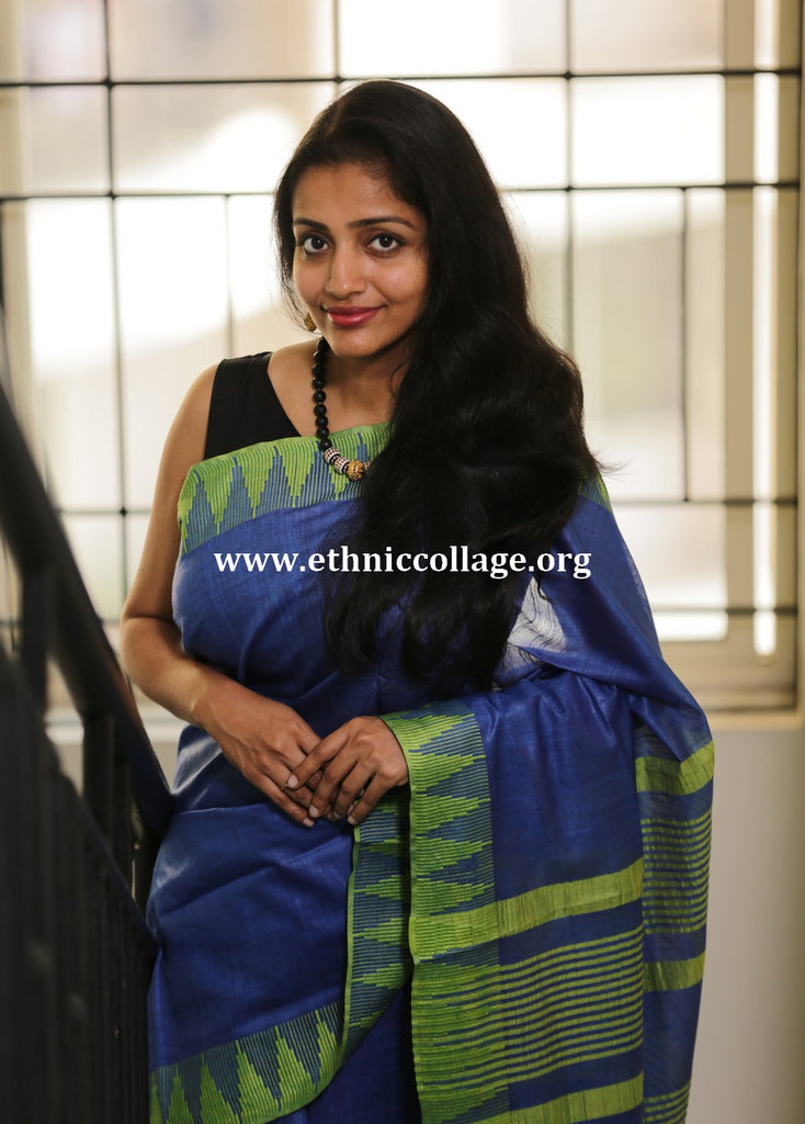 artsilk saree, handloom silk saree, blue silk saree, silk saree, saree, handwoven saree