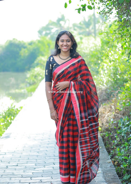 HandWoven Begampur Cotton Saree (BG3)