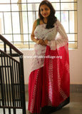 Handloom Cotton Saree with Batik Print