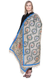 Hand-painted Madhubani Half and Half Dupatta
