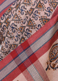 Mal Khadi Saree with Kalamkari Print