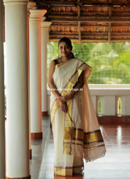 Handwoven kerala saree