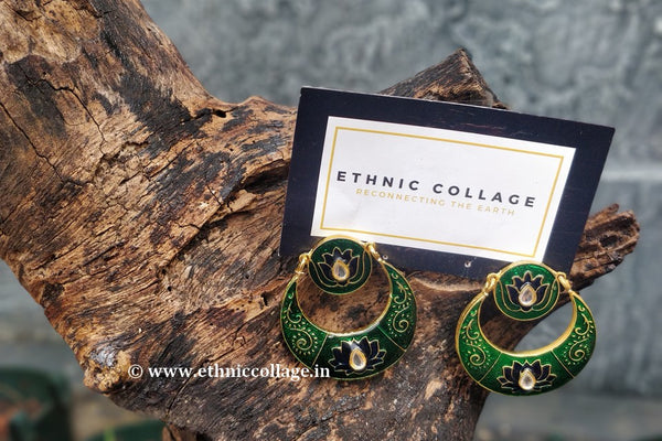 Kundan Inspired Meenakari Earrings